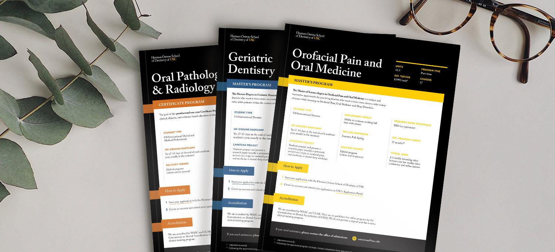 Online Postgraduate Dentistry Masters Degree and Certificate Program Brochures